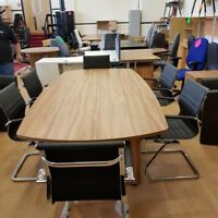 New boardroom conference meeting table  walnut and 6 new eames style chairs