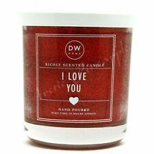 DW Home Medium Single Wick 9.3 oz Glitter Candle 33 Hour Burn Time - I Love You
