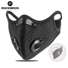 Cycling Mask face cover dual valve replaceable carbon filter outdoor sports