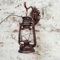 Retro Lantern Antique Vintage Rustic Lamp Outdoor Wall Sconce Light Fixture USA