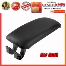 For Audi A3 8P Leather Center Console Armrest Lid Cover Black Leather 2003-2013