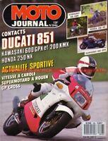 MOTO JOURNAL  846 DUCATI 851 HONDA NX 250 KAWASAKI GPX 600 R Warbird KMX 200 88