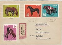 Germany DDR 1967 Regd Pulsnitz Cancels Multiple Horses Stamps Cover Ref 30276
