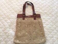 Lucky Brand Penny Lane Handbag Purse Crochet Leather Tote
