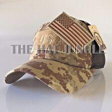 USA American Flag Patch Hat US Military Tactical Detachable Baseball Cap Digital