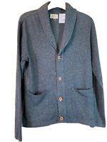 Koto Gray Blend Small Cardigan Fair Isle Fisherman Collar Jacket