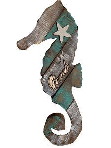 Rustic Seahorse Wall Decor Seahorse Hanging Ornament Beach Nautical Decor 16''H