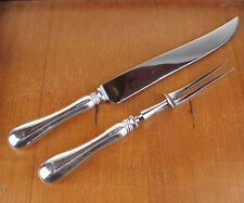 Carving Set - Knife + Fork Birks Regency Plate Old English silverplate