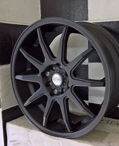 17x7.5+45 4/100-4/114.3 NICHE NR10 FULL BLACK or BLACK MACHINE suit JAPANESE CAR