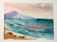 Rosemarie Caffarelli Oregon Artist Original Watercolor Oregon Coast Oceanside