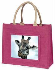 Sunset Giraffes Large Black Shopping Bag Christmas Present Idea AG-1BLB
