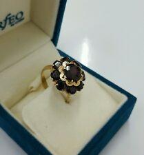 Granat Goldring 585 ANTIK