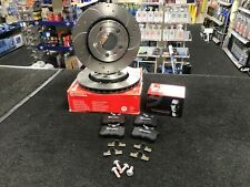 AUDI A3 8L BREMBO DRILLED GROOVED BRAKE DISCS AND PADS REAR SET
