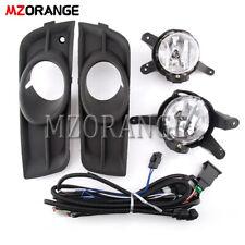 For Chevrolet Cruze 2011-2014 Fog Light Lamp Wiring Switch Kit Bulbs Bezel
