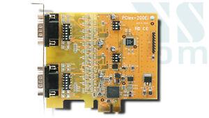 2-port RS232/422/485 Serial Card, PCIex, VSCom Brand