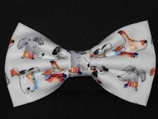 Adopt a Puppy Bow tie / Cute Dogs on White / Cool Dogs / Pre-tied Bow tie