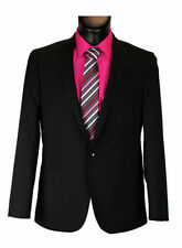 One Button Patternless Suit Jackets for Men