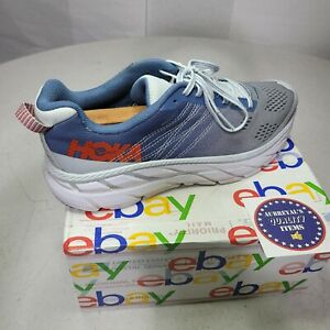 Hoka One One W Clifton 6 Mens Running Shoes Size 9.5 Blue/Grey