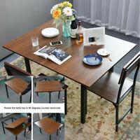Dining Table Kitchen Breakfast Dining Room Furniture Rectangle Folding Flip Desk