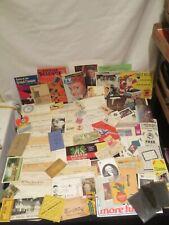 Vintage Paper Ephemeral Invoices Photos Tobacco Railroad Postcards Politcs +