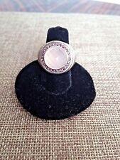 John Hardy sterling silver round ring w 13mm rose pink TOURMALINE quartz Size 7