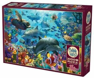 Cobble Hill 2000 Piece Puzzle - Coral Sea - Sample Poster Included