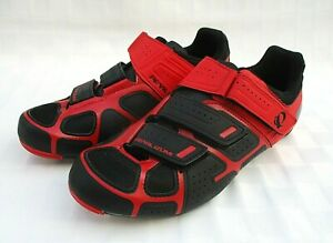 NWOB PEARL IZUMI SELECT RD IV WOMENS ROAD CYCLING SHOES Sz 42 / US 10 RED BLACK
