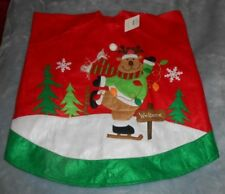 Reindeer Felt Christmas Tree Skirt 48 inch  Brand New with Tag