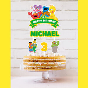 Sesame Street ST Cake Topper Personalised *STURDY* Kids Birthday Party