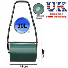 More details for garden roller heavy duty steel for grass lawn green water sand filled 30 litres