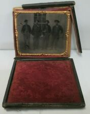 Antique Civil War Soldiers Photo W/ Orginal Frame *