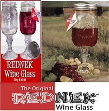 The Original Rednek 16 oz. Mason Jar Style Wine Glass by Carson -- NEW