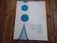 POESIE - COMMUNE MESURE N° 9 GUILLEVIC GUILLOT ILLUSTRATION J.DAMVILLE 1973