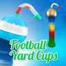 FOOTBALL Twisted Slush yard cup 17oz (500ml) HT4 x 126 cups with lid and straw