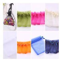 Organza Gift Bags Small Medium Large 9 x 12 7x9 Favour Wedding 100 10 x 15 White