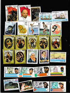 #3829=Nicaragua used selection of different commemorative stamps