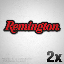 2x REMINGTON L Logo Vinyl Sticker Decal Weapon Gun Rifle Ammo Hunting Firearm