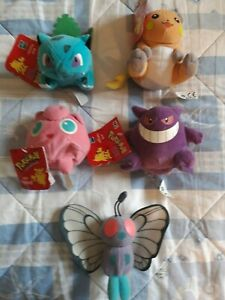 Pokemon RARE Beanie Bean Bag Plush MINT Condition  w/ TAG