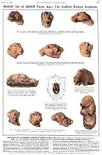 1936.ILN. ANIMALI Art.30, 000 anni fa. SCULTURA. Moravia. riti magici Preistorico.