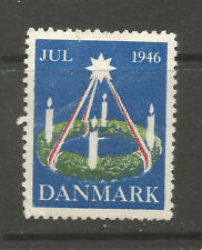 Denmark Christmas 1946 Tuberculosis (TB) charity stamp/label