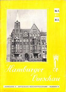 Hamburger Vorschau, 16.7. - 31.7.1955 - Offizielles Wochenprogramm