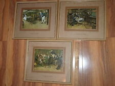Vintage Framed Lithograph Pictures From Pickwick ClubTitled and London Copyright