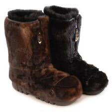 BRAND NEW BLACK OR BROWN ARCTIC BEAVER FUR WINTER BOOTS MEN WOMEN