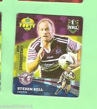 2007 GOLD SERIES  RUGBY LEAGUE TAZO - #35 STEVEN BELL, MANLY SEA EAGLES