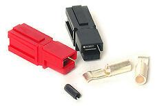 ANDERSON POWERPOLE 15Amp AC/DC Sermos Connectors (25 pair) Red/Black & Roll Pins