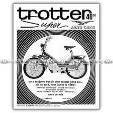 PUB GUZZI TROTTER SUPER 40 - Original Moped Advert / Publicité Cyclo 1969