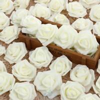 50x Weiß Schaumrosen Rosenköpfe Kunstblumen Künstliche Blume Hochzeit Wohnzimmer