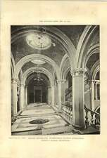 1902 Grand Staircase Wakefield County Buildings Gibson Russell