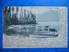 Le Lac du Bourget et la Dent du Chat.......Précurseur......VO.1901.
