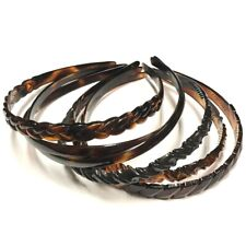 French Thin Headband Hair Accessory Girls Braided Texture Plastic Made in France